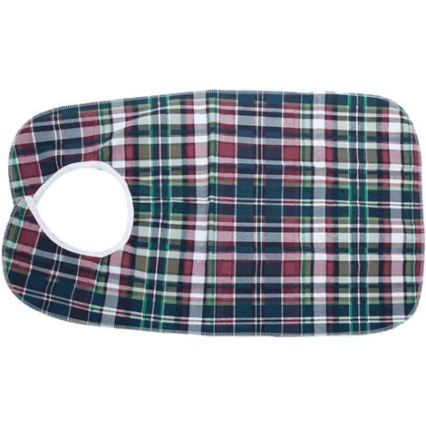 Essential Medical Deluxe Plaid Bib With Vinyl Back