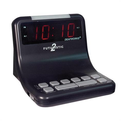 Buy DEAFWORKS Futuristic 2 Dual Alarm Clock