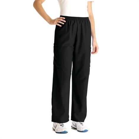Medline PerforMAX Unisex Elastic Waist Scrub Pants - Black