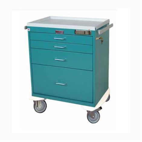 Harloff Four Drawer Short Anesthesia Cart