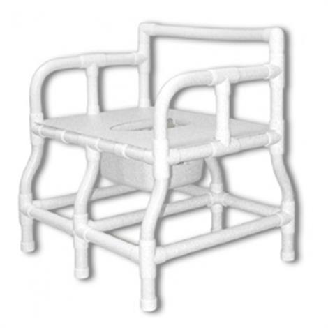 Duralife Bariatric Bedside Commode Chair With Safety Frame And Pail