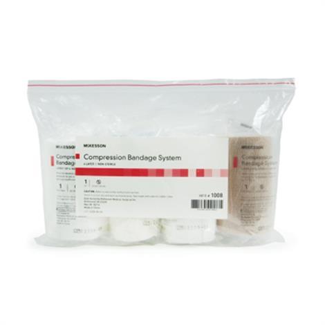 McKesson Non-Sterile Four-Layer Compression Bandage System