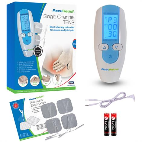 Carex AccuRelief Single Channel TENS Electrotherapy Pain Relief System
