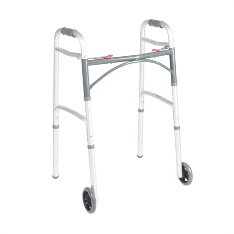 Drive Deluxe Folding Walker Two Button With 5