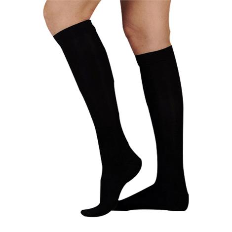 Juzo Soft Ribbed Knee High 20-30mmHg Compression Socks With Silver Sole For Men