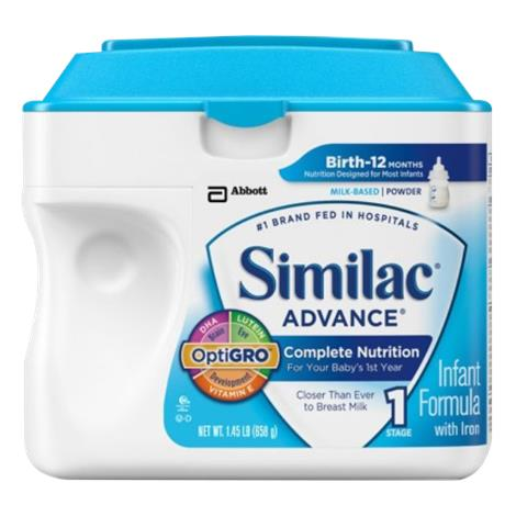 Abbott Similac Advance Optigro Infant Powder Formula with Iron