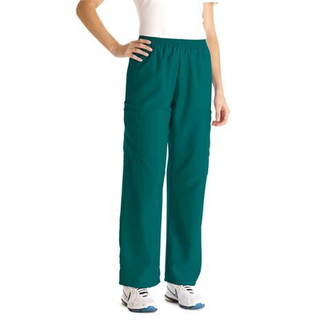 Medline PerforMAX Unisex Elastic Waist Scrub Pants - Evergreen