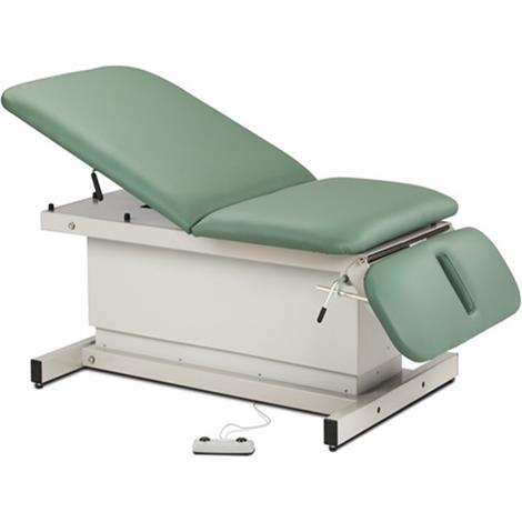 Clinton Shrouded Extra Wide Bariatric Power Exam Table with Adjustable Backrest and Drop Section