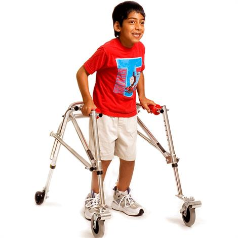 Kaye Posture Control Four Wheel Walker With Front Swivel And Silent Rear Wheel For Children