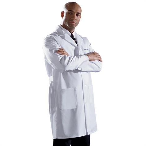 Medline Fine Line Twill Staff Length Lab Coat For Men