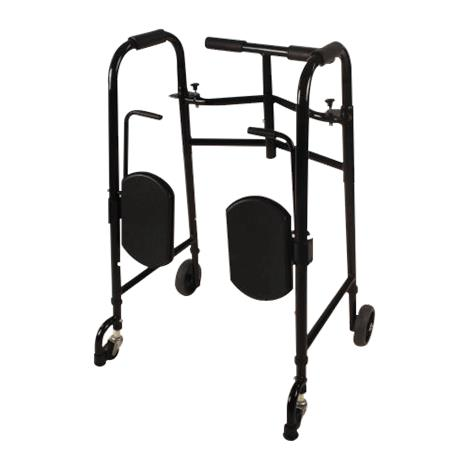 Tubular Fabricators EasyRise Universal 4 Wheeled Double Button Folding Walker