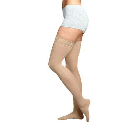 Juzo Soft Thigh High 30-40mmHg Compression Stockings With Silicone Border