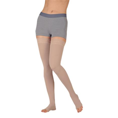 Juzo Dynamic Soft Thigh High 30-40 mmHg Compression Stockings With Silicone Border