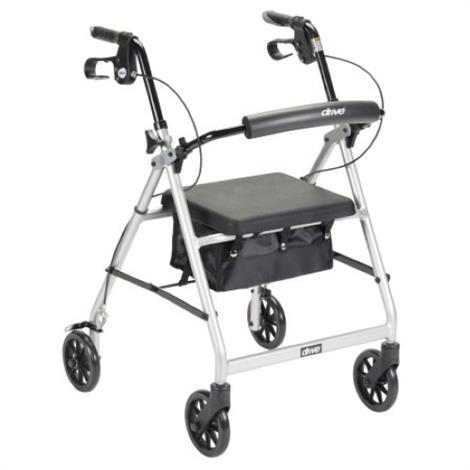 Buy McKesson 4 Wheel Aluminum Folding Rollator