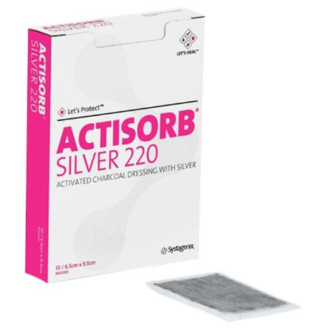 Systagenix Actisorb 220 Activated Charcoal Dressing with Silver