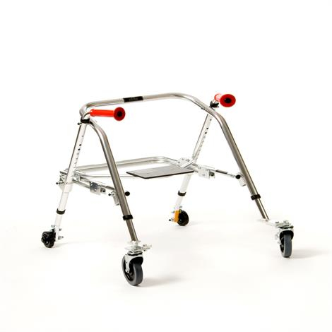 Kaye PostureRest Four Wheel Walker With Seat And Installed Silent Rear Wheel For Youth