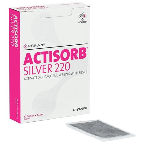 Buy Systagenix Actisorb 220 Activated Charcoal Dressing with Silver
