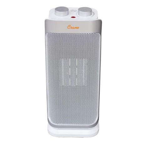Buy Crane Electric Compact Tower Oscillating Ceramic Space Heater