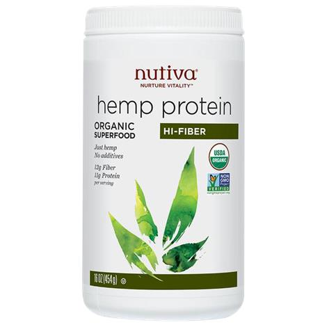 Nutiva Organic Hi-Fiber Hemp Protein Powder