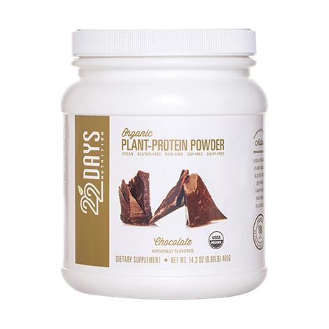22 Days Chocolate Organic Plant Protein Powder