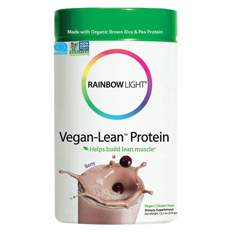 Rainbow Light Berry Vegan-Lean Protein Powder
