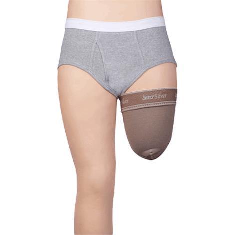 Juzo Dynamic Silver Varin Soft In Prosthetic Above Knee Stump Shrinker with Silicone Border