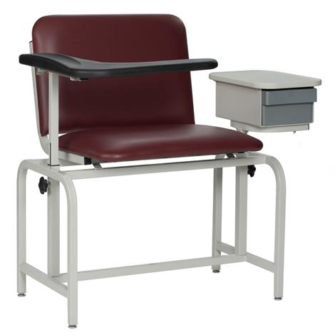 Winco Extra Large Padded Blood Drawing Chair With Drawer