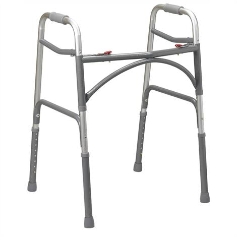Drive Bariatric Aluminum Two Button Folding Walker