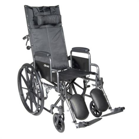 McKesson Reclining Single Axle Wheelchair With Detachable Padded Desk Arms