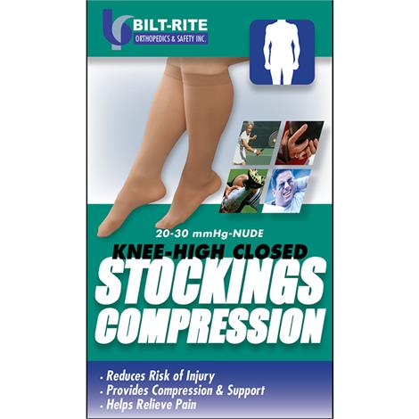 Buy Bilt-Rite Closed Toe Knee High 20-30 mmHg Stockings