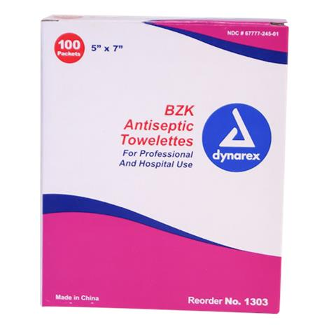 Dynarex BZK Antiseptic Towelettes