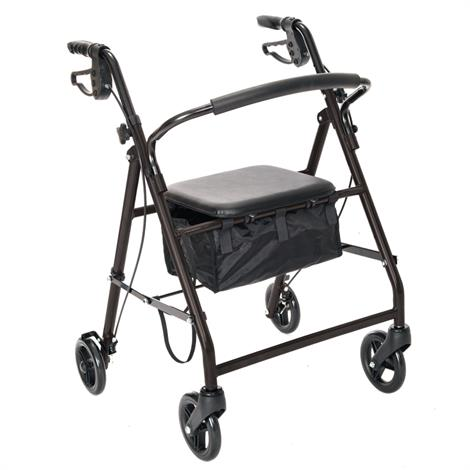 Essential Medical Aluminum Rollator with Loop Hand Brakes