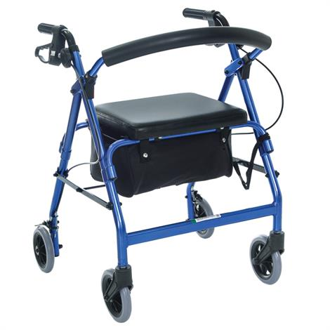Essential Medical Featherlight Aluminum Demi Four Wheel Walker