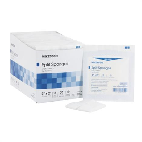 McKesson Medi-Pak Performance Plus Non-Woven High Absorbency Split Sponges