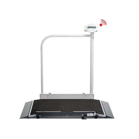 Seca Electronic Wheelchair Scale With Handrail And Transport Castors