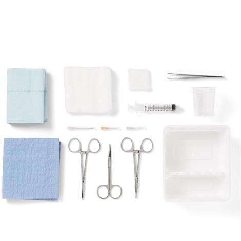 Medline Laceration Trays with Comfort Loop Instruments