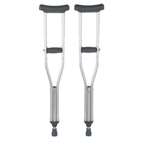 Buy McKesson Push-Button Aluminum Underarm Crutch
