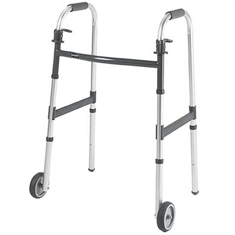 Buy Invacare I-Class Dual Release Adult Paddle Walker With Wheels