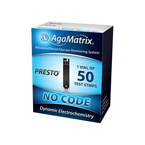 Agamatrix WaveSense Presto End Fil Blood Glucose Test Strips