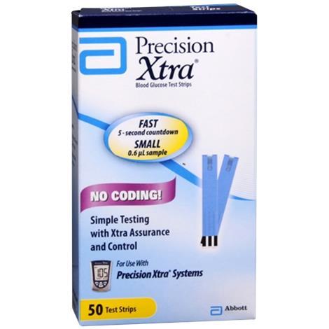 Buy Abbott Precision Xtra Blood Glucose Test Strips