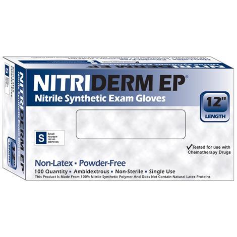 Nitriderm EP Powder Free Nitrile Synthetic Exam Gloves