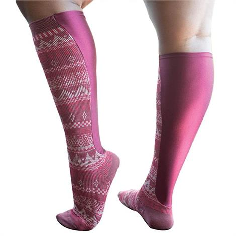 Xpandasox Plus Size/Wide Calf Aztec Stripe Knee High Compression Socks