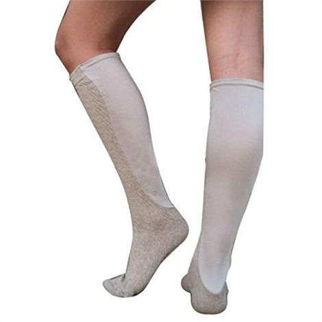 Xpandasox Plus Size/Wide Calf Cotton Blend Cable Texture Knee High Compression Socks