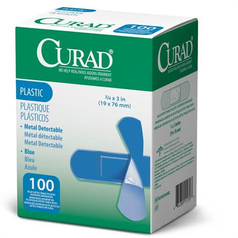 Medline Curad Plastic Detectable Sterile Adhesive Bandages