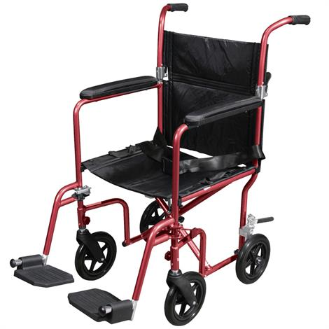 Buy Drive Deluxe Fly-Weight Aluminum Transport Chair With Removable Casters