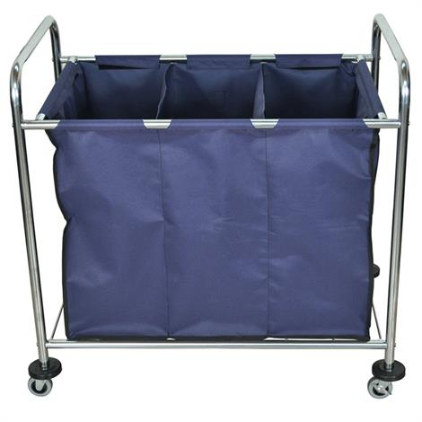 Luxor Industrial Laundry Cart With Dividers