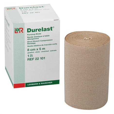 Durelast High Compression Very Short Stretch Bandage With Bandage Clips