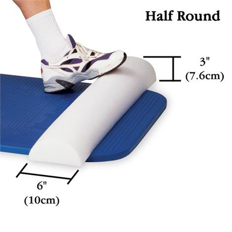 Half-Round Lightweight Portable Foam Roll