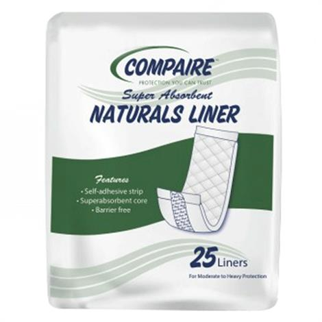 Absorbent Products Compaire Naturals Liners