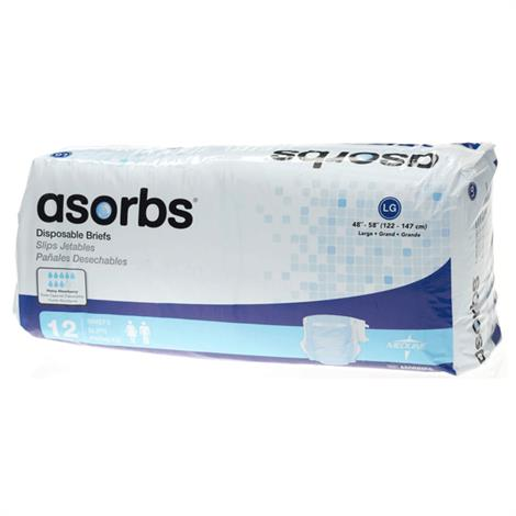 Buy Medline Asorbs Ultra Soft Plus Incontinence Briefs